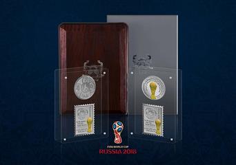 تمبرینه و مدال ( سکه یادبود ) جام جهانی فوتبال روسیه تولید شد
